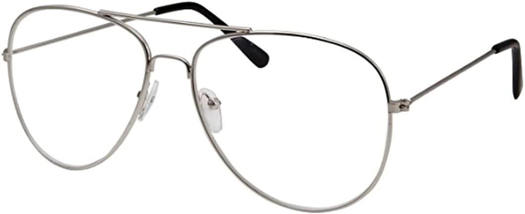 WebDeals(TM) - Clear Lens Aviator Eyeglasses