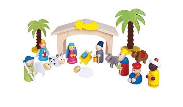 a partir de 3/a/ños Small Foot by Legler Bel/én de madera juego con coloridas minimu/ñecas y palmeras de madera