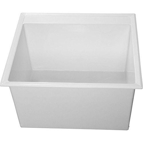 Crane Plumbing DL1 Drop-In Laundry Tub, White