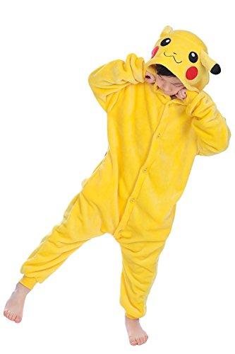 YAOMEI Kigurumi overall voor kinderen, pyjama, onesie, meisjes, jongens, fleece, anime, cosplay, Halloween, Kerstmis…