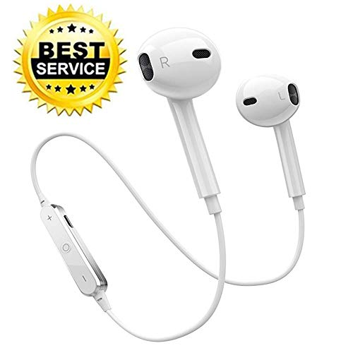 (For Fitbit Ionic/Fitbit Versa Wireless Headphones, Waterproof IPX7 Wireless Earbuds with Dynamic Clear Bass Sound, 3-4 Hours Playtime, Earphones with Noise Cancelling Mic Fit for Sports-Black(2019 new)