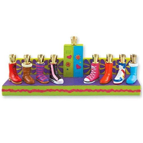 Shoes Galore Earthenware Hanukkah Menorah By Jessica Sporn