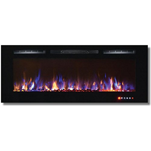 Cheap Bombay 50 Inch Crystal Recessed Touch Screen Multi-Color Wall Mounted Electric Fireplace Black Friday & Cyber Monday 2019