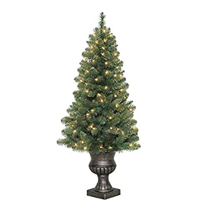 Holiday Living 4-ft Pre-lit Arctic Pine Artificial Christmas Tree with 100  Constant - Amazon.com: Holiday Living 4-ft Pre-lit Arctic Pine Artificial