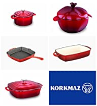 Korkmaz Casterra Cast Iron Cookware Bundle