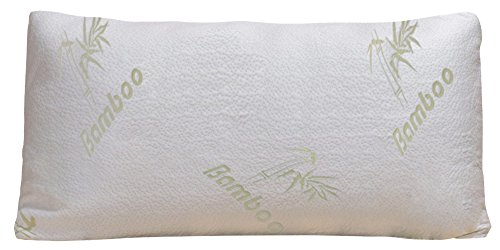 Bamboo Pillow - Firm Shredded Memory Foam - Stay Cool Remova