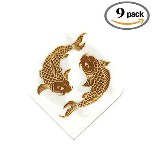 Art Attack 9 Pack Unicorn Core Koi Fish Goldfish Hologram Metallic 75 Micron Strong Dart Flights