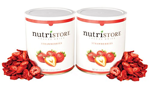Freeze Dried Sliced Strawberries by Nutristore | Pack of 2 | 14 Total oz | Amazing Taste | Healthy Snack| Survival Food (Freeze Fresh Strawberries)