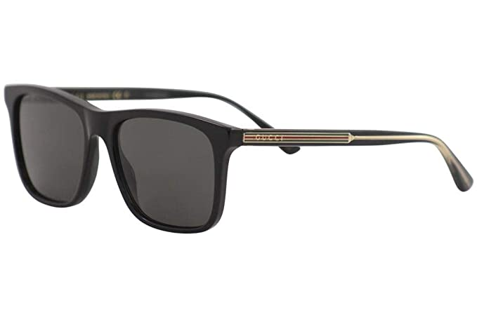Amazon.com: Gafas de sol Gucci GG 0381 S-007 negro/gris ...