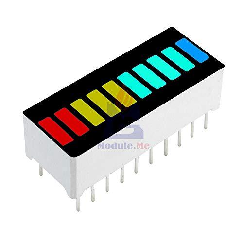 5PCS LED Display Module 10 Segment Bargraph Light Display Module Bar Graph Ultra Bright Red Yellow Green Blue Color Multi-Color