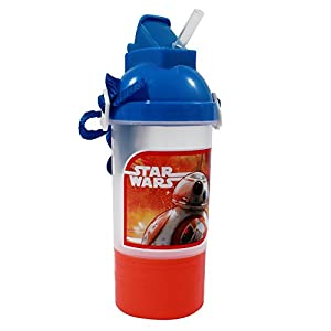 Star Wars Episode 7 12 Ounce Water Bottle and Snack Holder Canteen