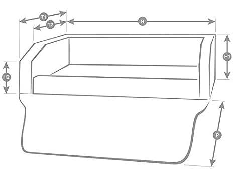 Autoschondecke in Grau Kunstleder Kofferraum Schutzdecke Auto Hundebett