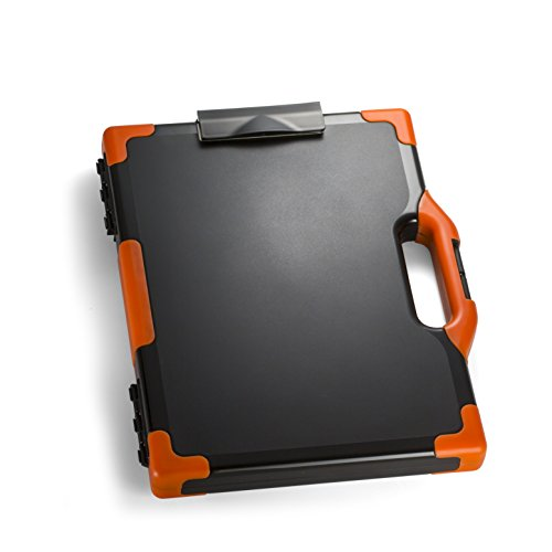 Construction Binder - Officemate OIC CarryAll Clipboard Storage Box, Letter/Legal Size, Black and Orange (83326)