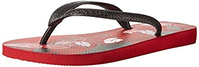 Havaianas Men's Aloha Flip Flop, Apache Red/Black, 45 EU/13 M US