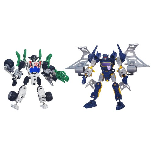 Transformers Construct-Bots Elite Class Wheeljack and Soundwave Buildable Action Figures