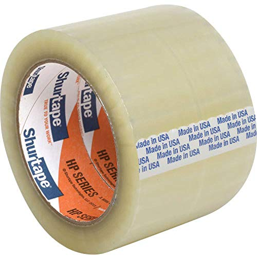 Shurtape HP 200 EZ Production Grade Hot Melt Packaging Tape, 1.8 Mil, 3