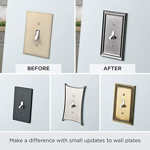 tools, home improvement, electrical, wall plates, accessories,  wall plates 4 discount Arboresque Double Switch Wall Plate, Packaging may Vary in USA