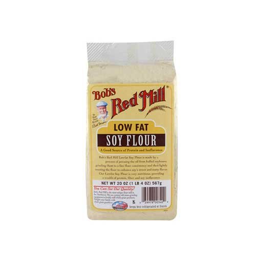 [Bobs Red Mill Low Fat Soy Flour, 20 Ounce -- 4 per case.] (Low Fat Flour)