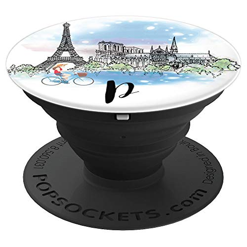 Amore Paris Letter Initial P Cute Gift For Man Women & Girls - PopSockets Grip and Stand for Phones and Tablets