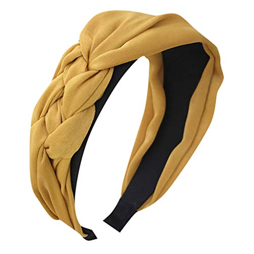 Pengy Women's Boho Headbands Vintage Flower Printed Turban Boho Twisted Head Girl Wrap Yoga Hair Band