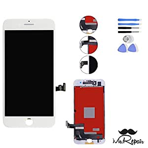 """OEM Apple iPhone 7 4.7"""" LCD Display Touch Screen Digitizer Assembly Screen replacement full set with tools by Mr Repair Parts (White)"""