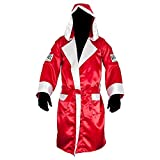 Cleto Reyes Satin Boxing Robe with Hood - Small - Red/White