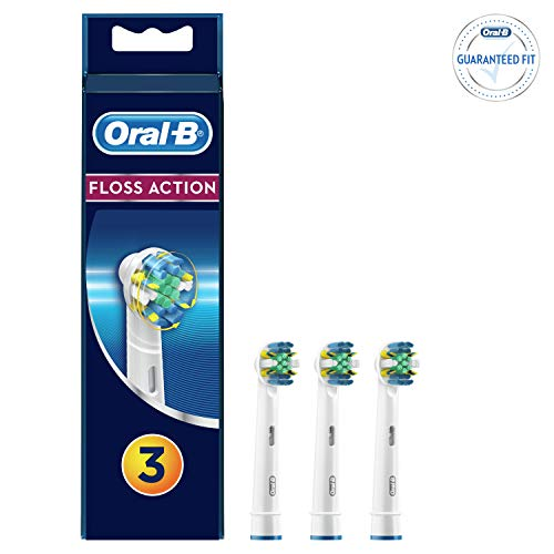 Oral B Floss Action Replacement Brush Heads Refill, 3 Count ()