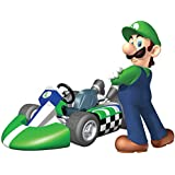 6 Inch Luigi Super Mario Kart Wii Bros Brothers Removable Wall Decal Sticker Art Nintendo 64 SNES Home Kids Room Decor Decoration - 6 by 4 1/2 inches