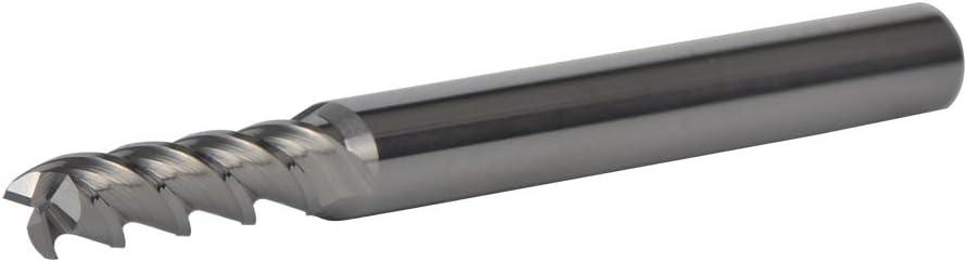 3 fl/ûtes, diam/ètre de la tige 6 mm, coupe 5 mm x 20 mm SpeTool Fraise spirale /à t/ête carr/ée extra longue Coupe professionnelle de CNC Outils