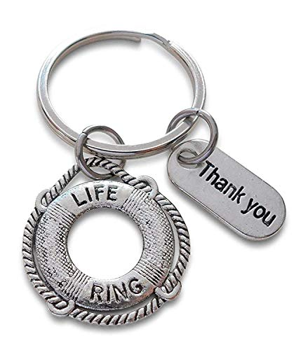 Lifesaver Keychain & Thank you Tag, Appreciation Gift, You've Been a Lifesaver -