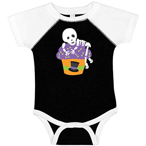 inktastic - Cupcake with Skeleton Infant Creeper 24 Months Black and White 27148