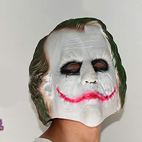 AIkong Halloween Mask Cos Captain Batman Clown Dark Knight Horrible Cosplay Mask White+Green]()