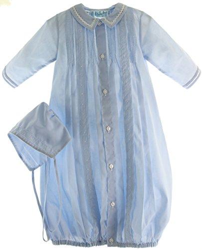 (Boys Blue Take-Me-Home Gown & Hat Newborn)