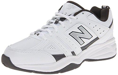 New Balance Mens MX409 Cross-Training Shoe, Blanco/Gris, 42 4E EU/8 4E UK