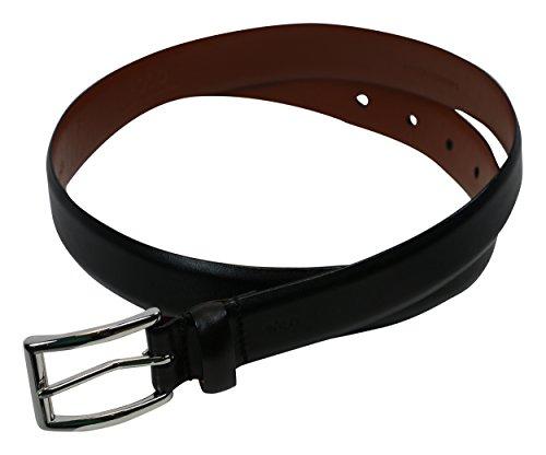 Buckle Black Calfskin Belt (Polo Ralph Lauren Mens Leather Buckle Casual Belt Black)