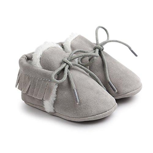 JL bebé niñas suela suave borla Bowknots sintética zapatos de piel Mocasín @2 Talla:Suitable Age6~12 month @2