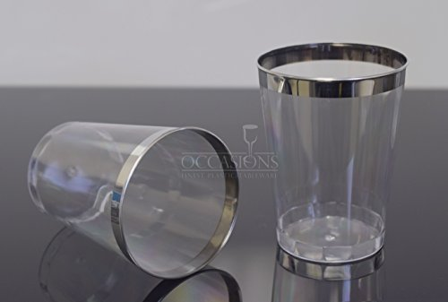 OCCASIONS Silver Disposable Plastic tumblers