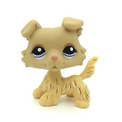 Littlest Pet Shop Collection LPS Toys Animals Tan Golden Collie Dog Very Rare: Toys & Games