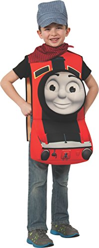 Thomas 3d Costume (Rubies Thomas and Friends Deluxe 3D James The Red Engine Costume, Child Small)
