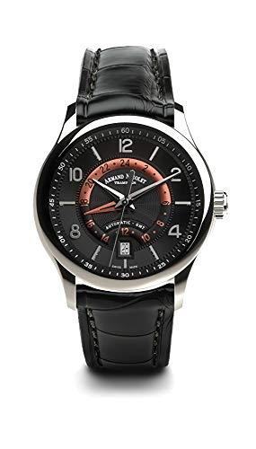 Gmt Automatic Gents Watch - Armand Nicolet Gents-Wristwatch M02-4 GMT Date Analog Automatic A846AAA-NR-P840NR2