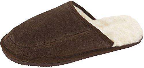 Pantofole Di Pelliccia Di Montone Da Donna Di Montone Color Cioccolato
