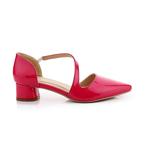 Mule Elastic RoseRed Band Cow Leather Empty 1TO9 Womens Sandals pvxn77