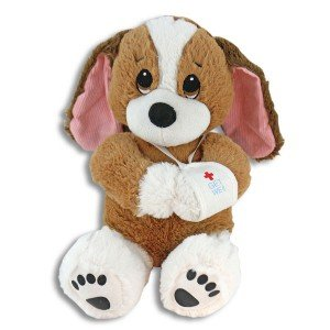 Melancholy Mel, Adorable 10 Inch Get Well Plush Dog - Hospital Present - Cheer Up Feel Better Stuffed Puppy
