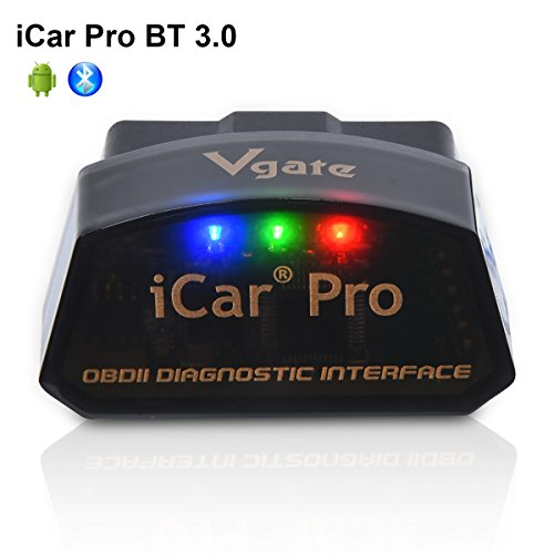 Vgate iCar Pro Bluetooth 3.0 OBD2 Code Reader OBDII Scanner Scan Tool Car Fault Check Engine Light for Torque Android Compatible with ELM327 Adapter