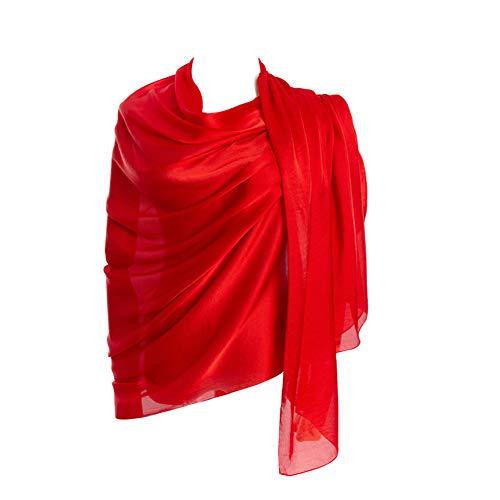 (Cyzlann Women's Scarves 100% Silk Long Lightweight Scarfs for Women)