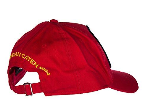 ajustable en gabardine sombrero Dsquared2 algodón nuevo hombre rojo wZA1AqOU