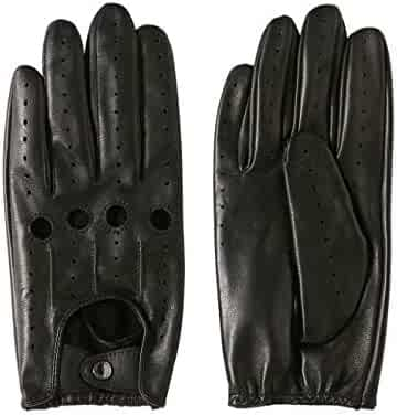 5419a3e4a LIBO Leather Driving Gloves Unlined Full Finger Retro Sports Gloves For Men  And Women Non Touch