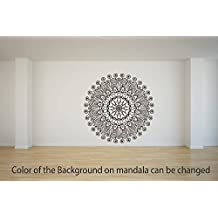 Mandala Art 5 Vinyl Decal Wall, Car, Laptop - Met. Gold - 50 inch