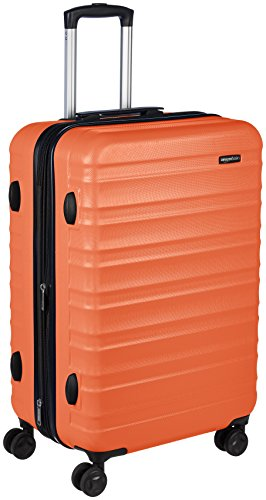 AmazonBasics Hardside Spinner Travel Luggage Suitcase - 24 Inch, Orange ()