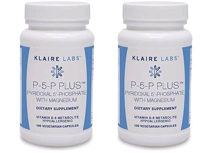Klaire Labs - P-5-P Plus with Magnesium 100 Veggie Capsules (2 PACK)